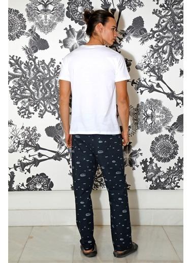 Hays Erkek Kısa Kollu Pijama Takımı Lacivert
